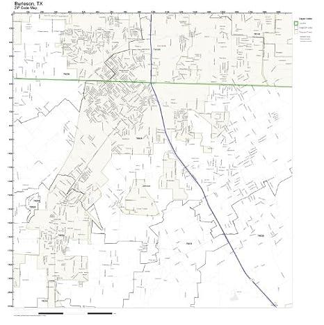 Amazon.com: ZIP Code Wall Map of Burleson, TX ZIP Code Map Not