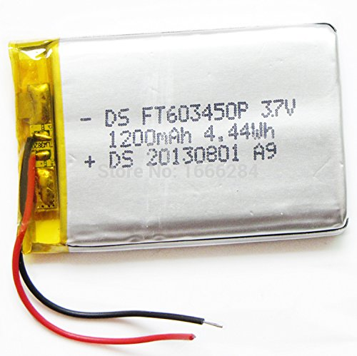 Ofeely 3.7V 1200mah 603450 Lithium Polymer Battery Li-Po Rechargeable Battery For MP4 MP5 GPS PSP DVD mobile video game PAD E-books tablet PC
