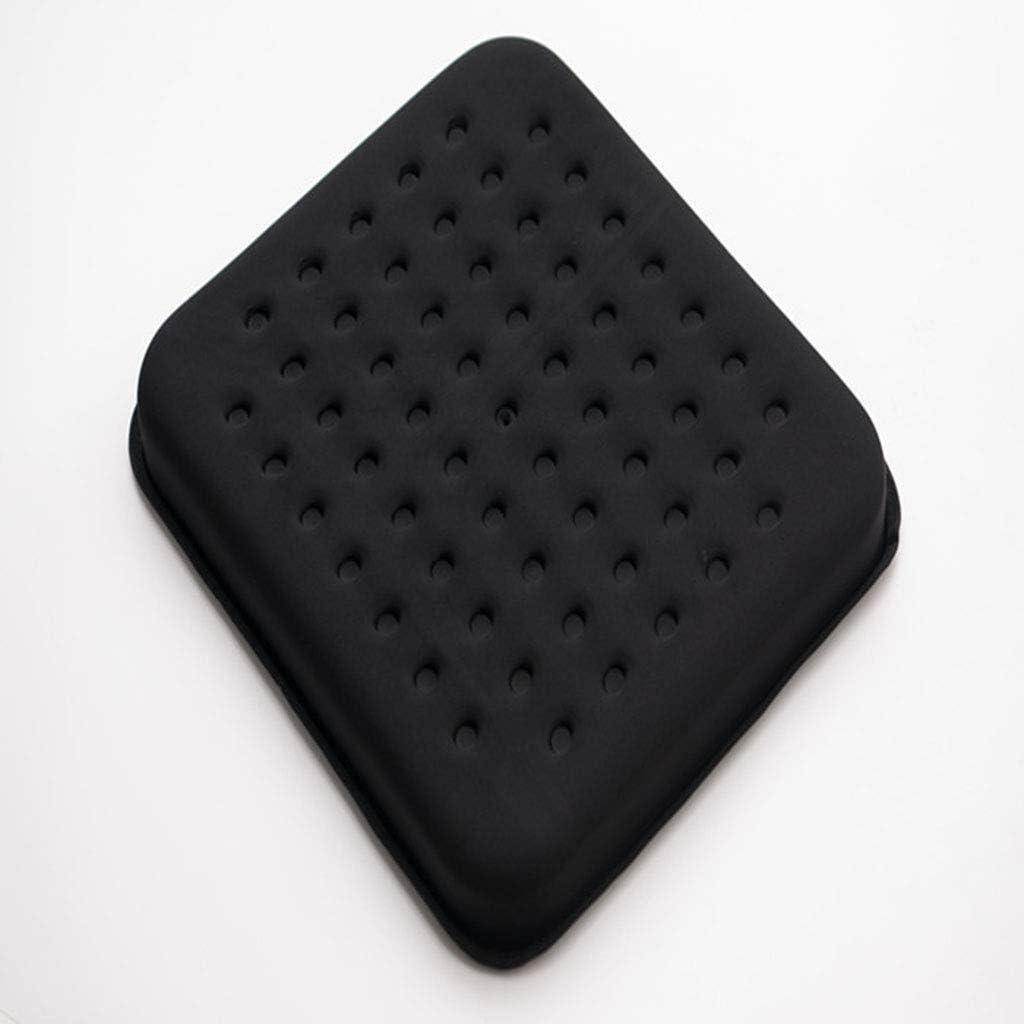 Cojín antiescaras for sillas de Ruedas, Mat Gel Transpirable y cómodo for la úlcera por presión y la Cama de Tratamiento Dolor Cuidado Mayor Movilidad Reducida Médico cojín (Color : Black)