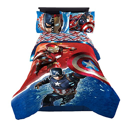 Captain+America Products : Marvel Captain America Civil War Warriors Reversible Twin/Full Reversible Comforter