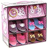 Princess Dress Up & Play Shoe and Jewelry Boutique (Includes 4 Pairs of Shoes + Multiple Fashion Accessories) - This dressup princess jewelry set is the best for girls age 2 - 10 years old