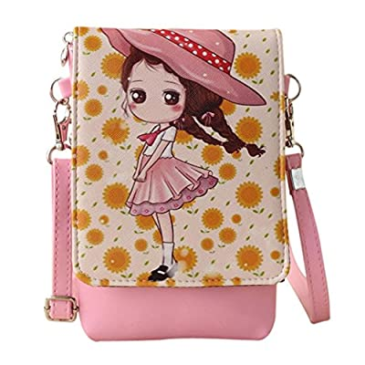 Girls Leather CrossBody Bag Mini Shoulder Bags Fashionable Casual Handbags for Women F by TOPUNDER