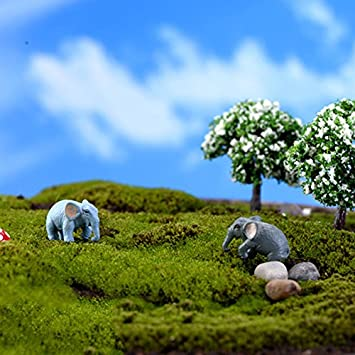 2.5CM LAMEIDA Mini Elefant Tierfigur Miniatur Deko Ornament Micro Landschaft Puppenstube Size 1 1.5 dunkel grau
