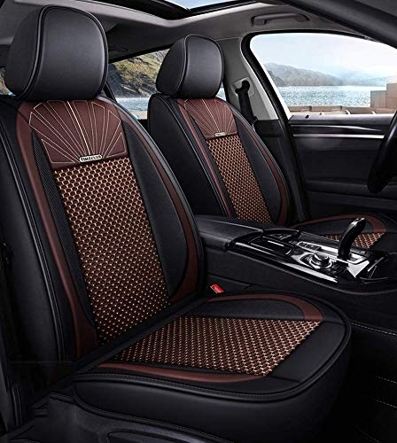 Tcbz Leather Ice Silk Car Seat Cover - Non-Slip Suede-Lined Universal Fit Seat Cushion for Fabric And Leather Car Seats,D,D: Amazon.co.uk: Sports & Outdoors