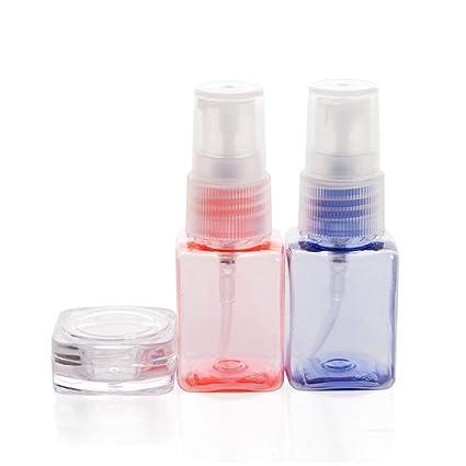 20 ml portátil recargables, caña de plástico fina niebla Perfume maquillaje transparente vacío spray Rociador