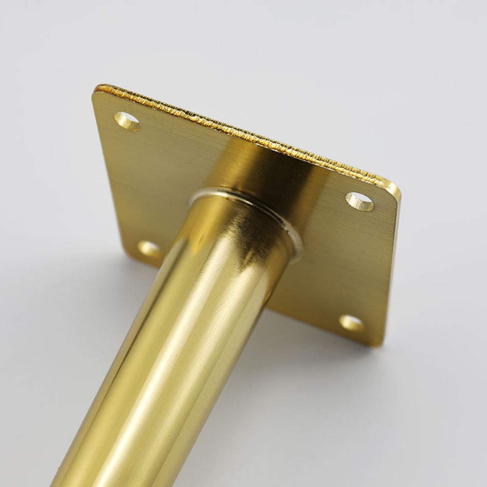 Long Sofa Legs, Metal Oblique Furniture Feet, Electroplated Imitation Gold, Felt Pad Floor Protector by Furniture legs (Image #6)