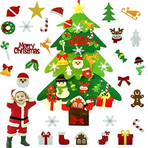 ZOYLINK Fieltro Árbol de Navidad, LED El árbol de Navidad del Fieltro Decoraciones de la Navidad