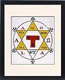 Framed Print Of Hexagram Of Solomon