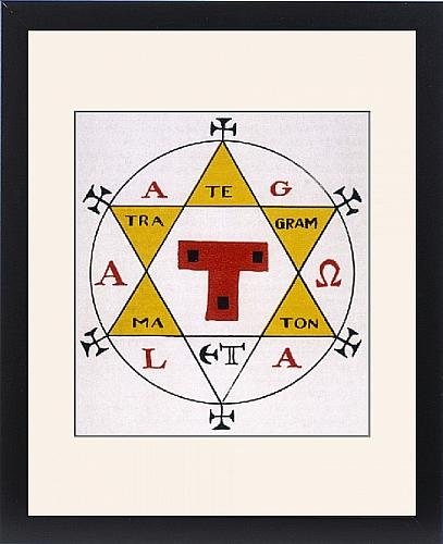 Framed Print Of Hexagram Of Solomon by Prints Prints Prints