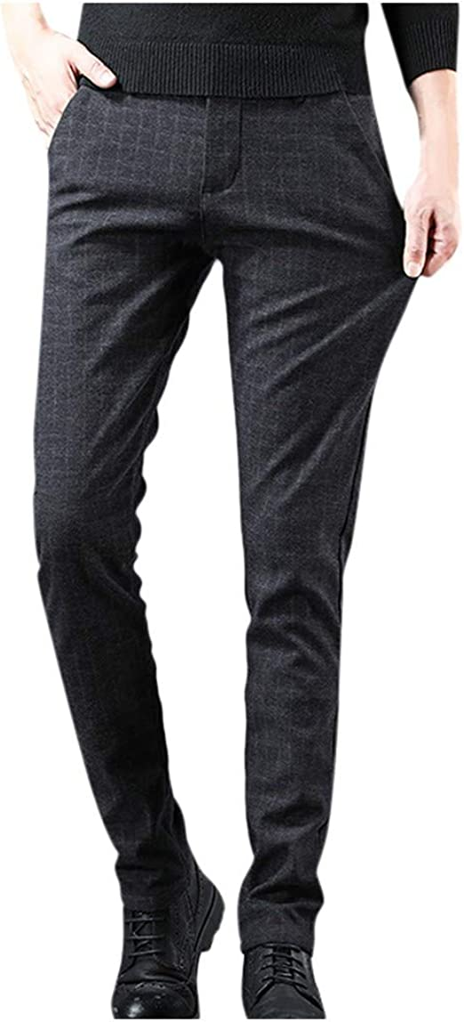メンズカジュアルパンツ ズボン ズボンの豪華な暖かく長いズボンを細くするカジュアルな屋外 無地の冬のズボン