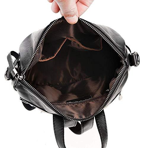 Noir femme Sac YYW dos porté Foncé pour main au SSMKY172580 à qOx6wgqzA