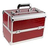 Homyl Professional Aluminum Makeup Train Jewelry Storage Carry Box Cosmetic Lockable Case Nail Art Tattoo Tools Organizer for Salon Dresser - #2
