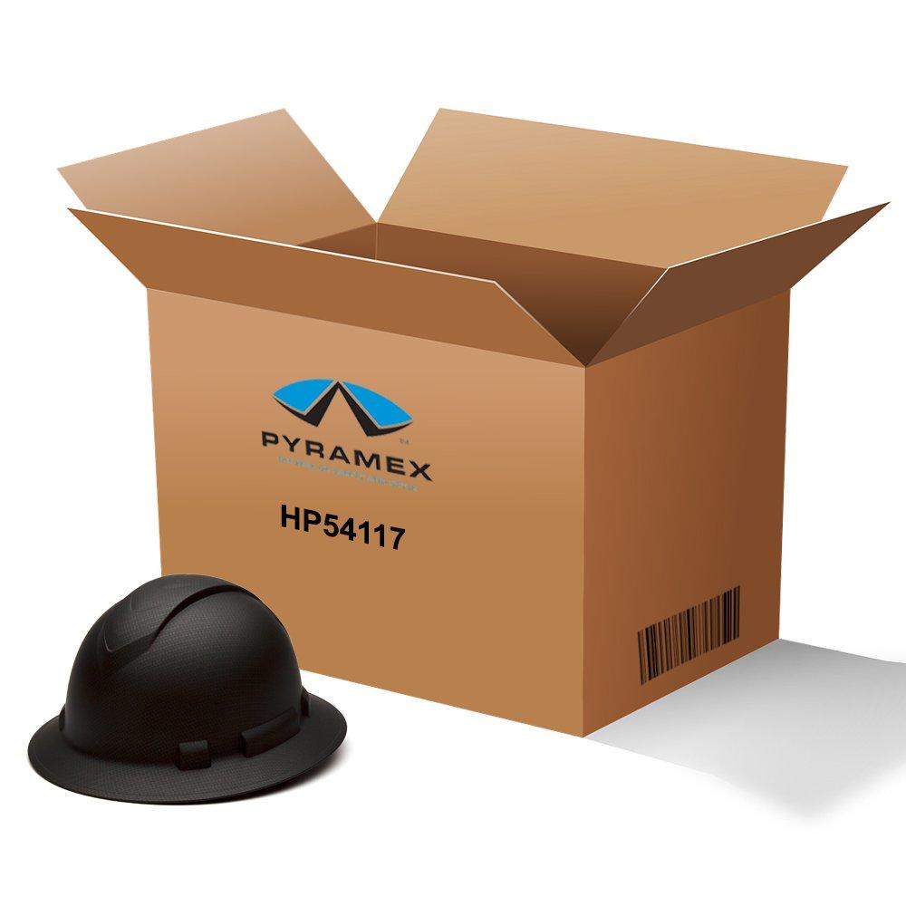 Pyramex HP54117 Full Brim Black Graphite Hard Hat, Case Quantity