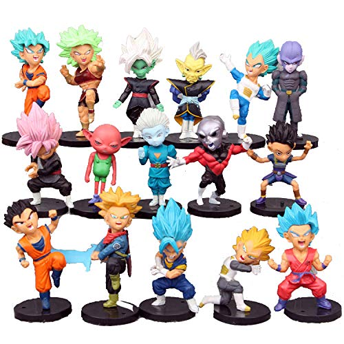 Dragon Ball Z Collectible Model | 16 Piece Action Figure Set | Cake Topper, Party Favor Supplies