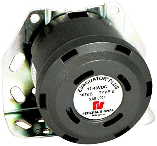 Federal Signal 210333SSG Evacuator Back-Up Alarm, Dual Tone Universal Mounting Bracket, 107 dB(A)