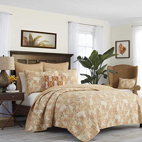 Tommy Bahama Batik Pineapple King Quilt, Orange