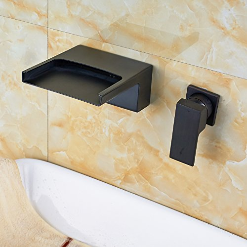 Rozin Widespread Two Holes Waterfall Spout Tub Faucet Oil Rubbed Bronze high-quality