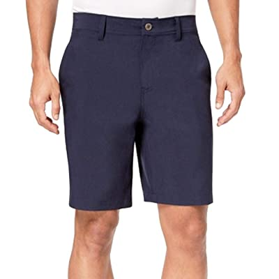 32 DEGREES Navy Mens Performance Flat Front Stretch Shorts Blue 42 at Amazon Men's Clothing store