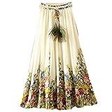 Ashir Aley Floral Bohemian Chiffon Long Maxi Skirt (Colorful)