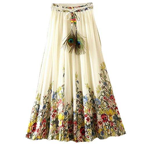 Ashir Aley Floral Bohemian Chiffon Long Maxi Skirt (Colorful) ()