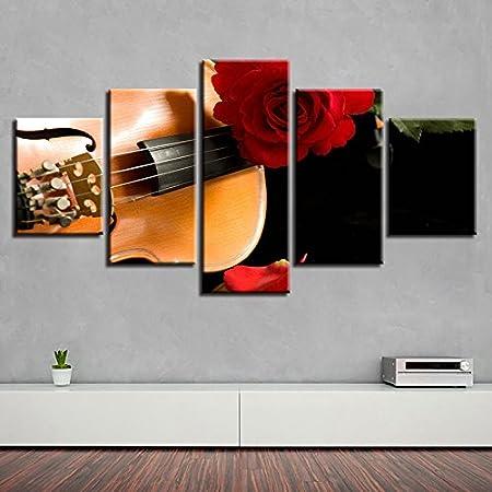 PAINTING Gerahmte Wohnzimmer Einrichtung Gemälde Wandkunst 5 Stück ...