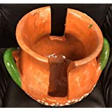 Made in Mexico Barro Mexican Clay Servilletero Espiga Napkin Holder Glazed Hand Painted Made