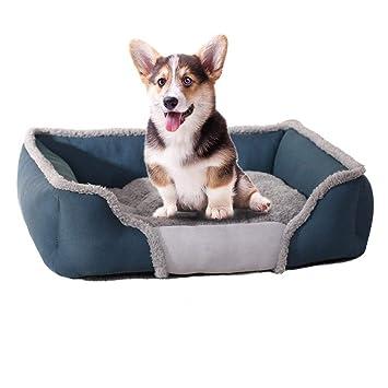 iBàste Cama para Sofa Perro Colchón para Mascotas Lavable con Almohadas De Felpa Cesta Rectangular para Mascotas Colchoneta Resistente para Perros: ...