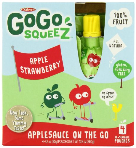 GoGo squeeZ Applesauce Strawberry Pouches product image