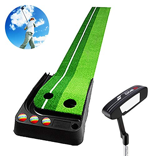 (Bibiyi Office Pitcher - Putt Trainer Set - Family Children's Exercise Blanket - Kids Golf Course - 1 Putt)