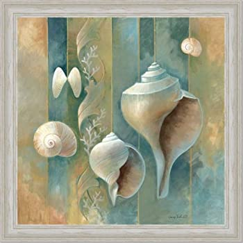 Amazon Com Blue Seashells Bath Room Spa Decor Ii Art