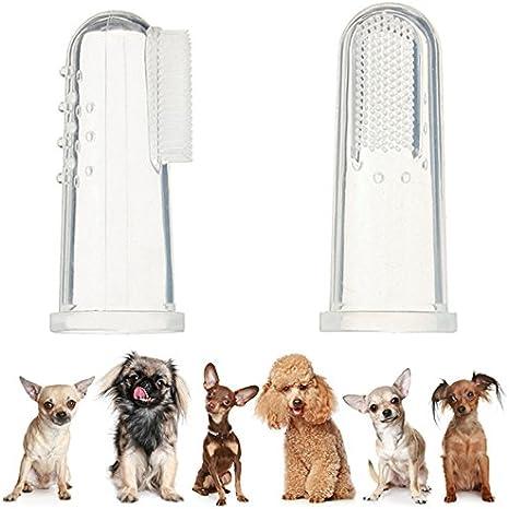 UEETEK 4pcs perro dedo cepillo de dientes silicona higiene Dental ...