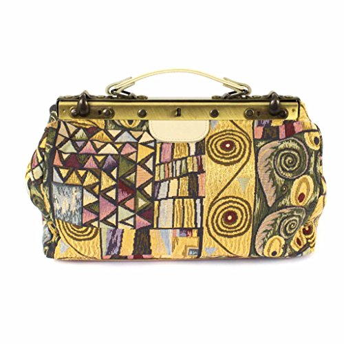 Bolso de doctor / Bolso de mano de gobelino, KUNSTWERK, colorido, 35 x 20 x 15 cm - Bolsa de mujer / Accesorio original - faminova