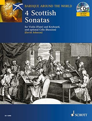 Four Scottish Sonatas: For Violin and Keyboard, with optional Cello - Score and Parts ()