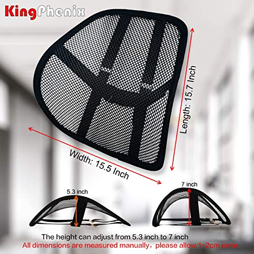 Lumbar Support (2 Pack) with Breathable Mesh, Suit for Car, Office Chiar