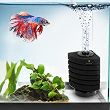 6-Layer Betta Corner Filter by SunGrow: Provides Biological and Chemical Filtration: Promotes Colonization of Nitrifying Bacteria: Color Black