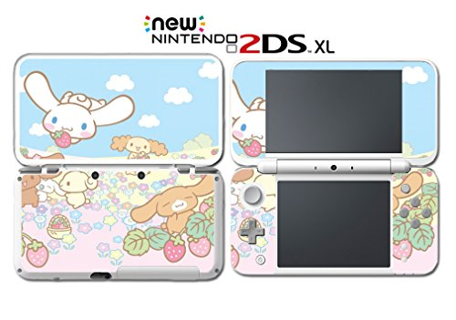 Nintendo Ds Vinyl Skin - Cinnamoroll and Friends Cute Kitty Bunny Hello Video Game Vinyl Decal Skin Sticker Cover for Nintendo New 2DS XL System Console
