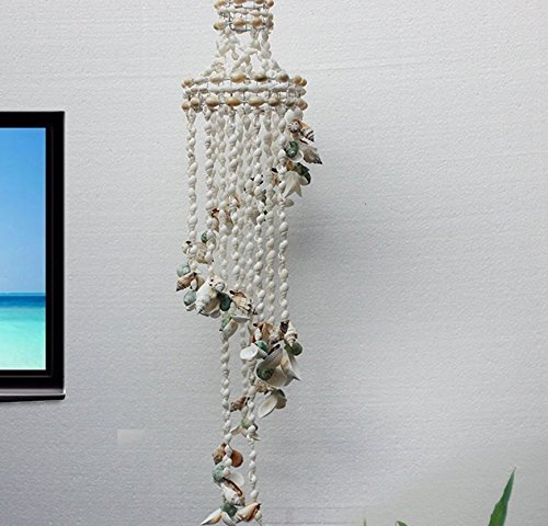 Special New Natural Wind Chimes with Colorful Sea Shell Home Decoration Shell Hand-made Gifts Nature Shell Color Design