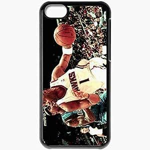 XiFu*MeiPersonalized iphone 5/5s Cell phone Case/Cover Skin Nba basketball athletes atlanta hawks orlando magic tracy mcgrady quentin richardson www.wallmay.net BlackXiFu*Mei