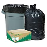 Earthsense Commercial Recycled Large Trash and Yard Bags, 33 gal, .9 mil, 32.5 x 40, Black - 80 trash and yard bags.