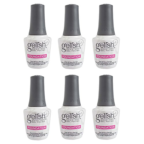 Gelish Harmony 0.5 Fluid Ounce Soak-Off Foundation Gel Nail Polish Base (6 Pack)