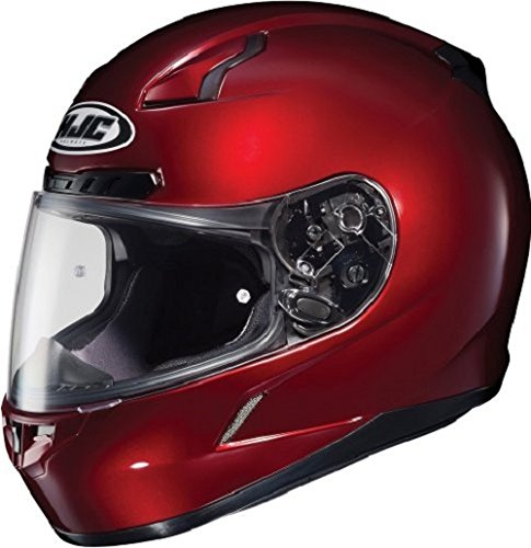 (HJC CL-17 Full-Face Motorcycle Helmet (Wine, Large))