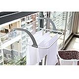TOAO Indoor/Outdoor Easy Install Folding Clothes Drying Rack-Hanging over the door or on Bathroom Windowsill Guardrail Corridor Balcony