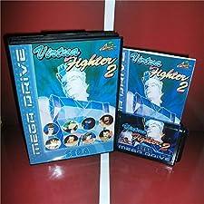 Virtua Fighter 2 EU Cover with Box and Manual For Sega Megadrive Genesis Video Game Console 16 bit MD card - Sega Genniess - Sega Ninento, 16 bit MD Game Card For Sega Mega Drive For Genesis