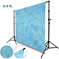 Julius Studio 6 x 9 ft. Tie Dye Pattern Light Sky Blue, Bright Blue, Azure Sky, Cool Color, Chromakey Photo Video Studio Fabric Backdrop, Background Screen, Fabric Muslin, Photography Studio, JSAG205