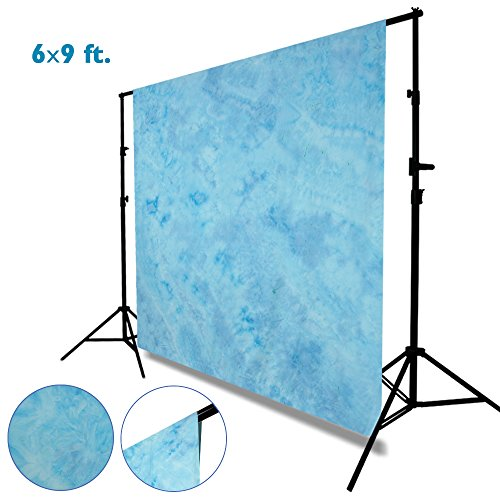 Julius Studio 6 x 9 ft. Tie Dye Pattern Light Sky Blue, Bright Blue, Azure Sky, Cool Color, Chromakey Photo Video Studio Fabric Backdrop, Background Screen, Fabric Muslin, Photography Studio, JSAG205 by Julius Studio