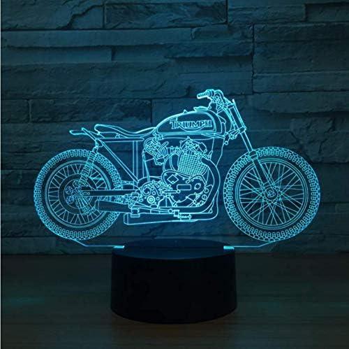 USB LED 3d l/ámpara LED Moto modelo 3d Sensor Luz nocturna atm/ósfera l/ámpara como Dormitorio Decoraci/ón