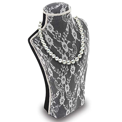 (Ikee Design Jewelry Holder - Jewelry Store Display Bust Stand for Jewelry Accessories, Necklaces Chain, Bracelets, Choker, Pendant )