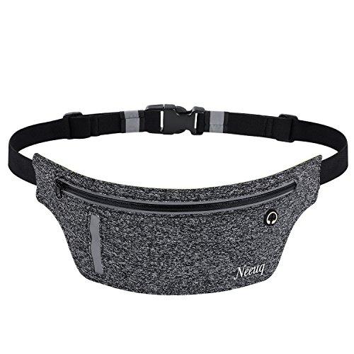 Running Belt Zipper Pockets Water Resistant Reflective for...