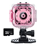 Toys : Ourlife kids Waterproof Camera with Video Recorder includes 8GB memory card (Pink)