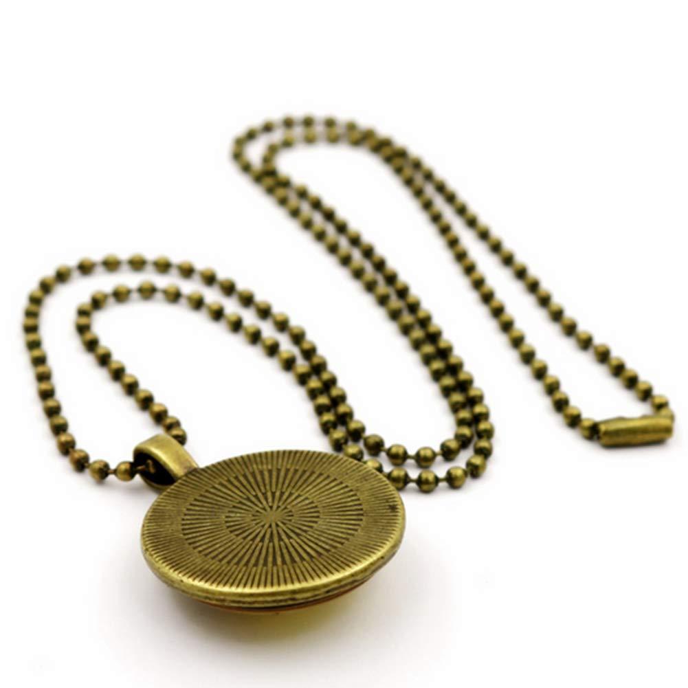 Deanyi Catena di vetro Rossocollana di San Michele pendente collana maglia Bead catena Dichiarazione bronzo Rossocollana Abbigliamento e Accessori